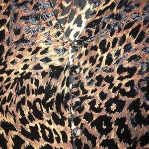 Free People Tops - NWT Free People Leopard Velvet Print Top Sz M